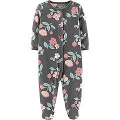 Baby Girl Carter's Microfleece Floral Sleep & Play