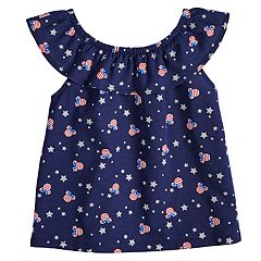 Disney's Minnie Mouse Baby Girl Patriotic Print Ruffle Top by Jumping Beans®