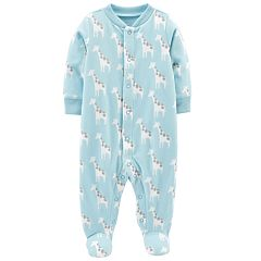 Baby Boy Carter's Microfleece Giraffe Sleep & Play