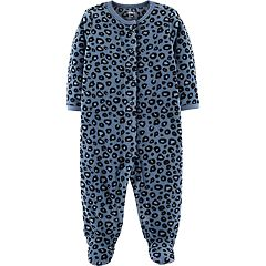 Baby Girl Carter's Microfleece Leopard Print Sleep & Play