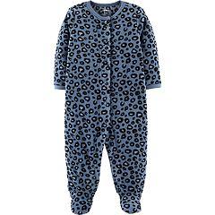 Baby Girl Carter's Microfleece Leopard Print Sleep & Play