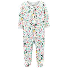 Baby Girl Carter's Floral & Elephant Thermal Sleep & Play
