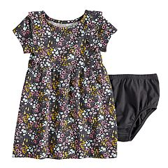Baby Girl Jumping Beans® Ruffled Print Dress