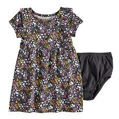 Baby Girl Jumping Beans® Ruffled Print Dress
