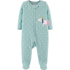 Baby Girl Carter's Microfleece Polka-Dot & Dog Sleep & Play