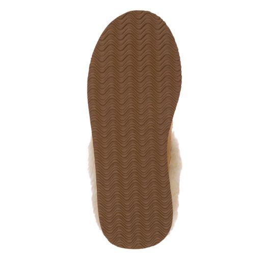 Women's Dearfoams Suede & Basketweave Clog Slippers