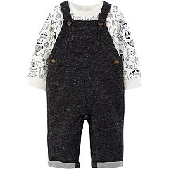 Baby Boy Carter's Animal Thermal Tee & French Terry Overalls Set