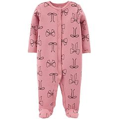 Baby Girl Carter's Thermal Bow Sleep & Play