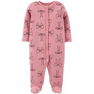 Baby Girl Carter's Thermal Bow Sleep & Play