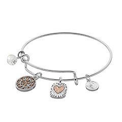 love this life Mother & Daughter Charm Bangle Bracelet