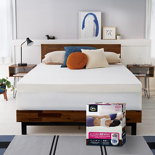 Serta rest & revive™ 3-inch LURAcor™ Foam Back Support Mattress Topper