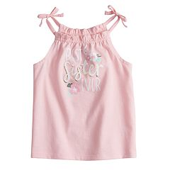 Baby Girl Jumping Beans® Ruffled Graphic Tank Top