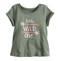 Baby Girl Jumping Beans® Glittery Graphic Tee