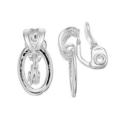 Napier Oval Hoop Clip-On Earrings