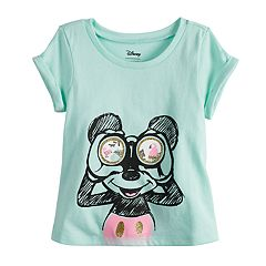 Disney's Mickey Mouse Toddler Girl Glittery Graphic Tee Disney/Jumping Beans®