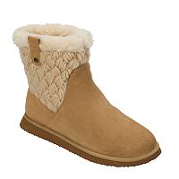 Women's Dearfoams Suede & Basketweave Boot Slippers