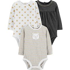 Baby Girl Carter's 3-pack Glittery Bodysuits