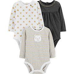 Baby Girl Carter's 3-pack Glittery Bodysuits