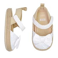 Baby Girl Carter's Eyelet Bow Sandal Crib Shoes