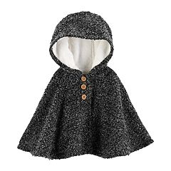 Baby Girl Carter's Hooded Textured Cape