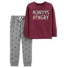 Toddler Boy Carter's 'Always Hungry' Tee & Jogger Pants Set