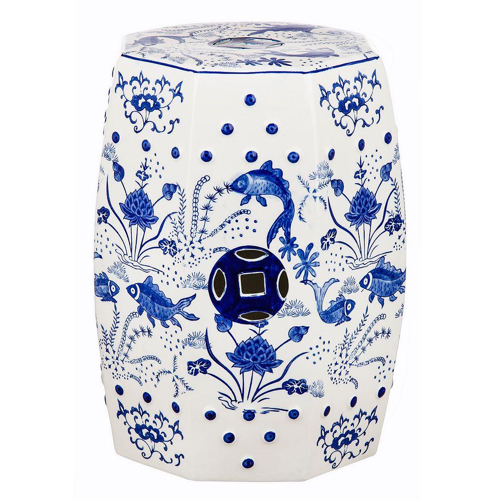 Safavieh Lotus Chinoiserie Pattern Indoor / Outdoor Stool