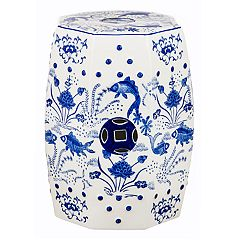 Safavieh Lotus Chinoiserie Pattern Indoor / Outdoor Stool
