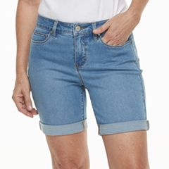Women's Croft & Barrow® Cuffed Jean Shorts