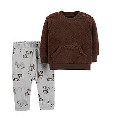 Baby Boy Carter's Sherpa Sweatshirt & Bear Pants Set
