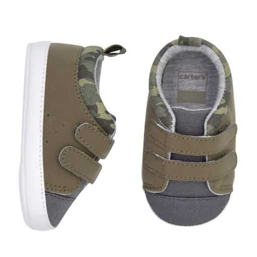 Baby Boy Carter's Camo Sneaker Crib Shoes