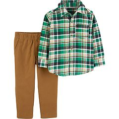 Toddler Boy Carter's Plaid Button Down Shirt & Khaki Pants Set