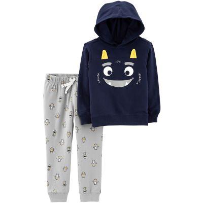 Toddler Boy Carter's Monster Hoodie & Print Jogger Pants Set