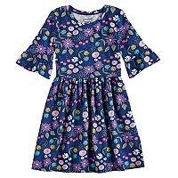 Girls 4-10 Jumping Beans® Print Bell-Sleeve Dress