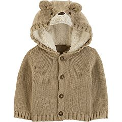 Baby Boy Carter's Bear Hooded Cardigan
