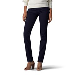 Petite Lee Rebound Pull-On Straight-Leg Jeans