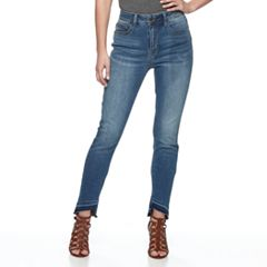 Women's Seven7 Secret Fit Uneven Release Hem Skinny Jeans