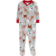 Baby Carter's Christmas Dogs Microfleece Footed Pajamas