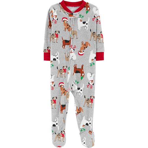 03f26d120 Baby Carter s Christmas Dogs Microfleece Footed Pajamas