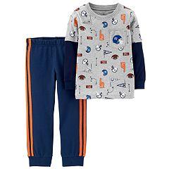 Baby Boy Carter's 2-pc. Sports Pocket Mock Layer Tee & Striped Jogger Pants Set