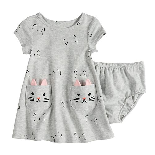 Baby Girl Jumping Beans® Animal Print Dress