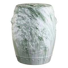 Safavieh Green Faux Marble Indoor / Outdoor Stool