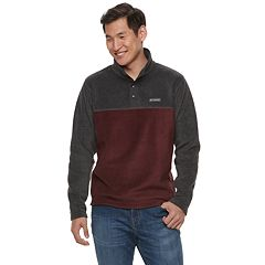 Big & Tall Columbia Flattop Ridge Colorblock Quarter-Snap Fleece Pullover