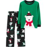 Toddler Boy Carter's Polar Bear Microfleece Top & Bottoms Pajama Set