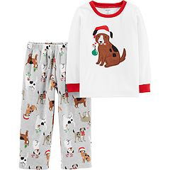 Toddler Boy Carter's Christmas Dogs Top & Fleece Bottoms Pajama Set