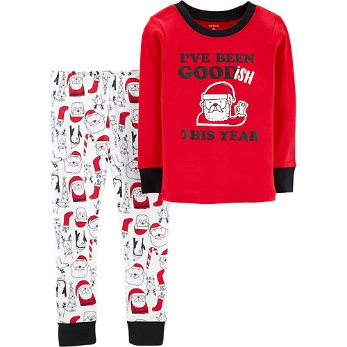Toddler Carter's Christmas Santa Claus Top & Bottoms Pajama Set
