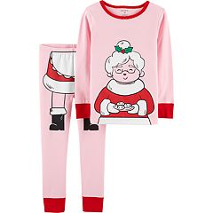 Toddler Girl Carter's Mrs. Claus Top & Bottoms Pajama Set