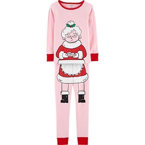 Toddler Girl Carter's Mrs. Claus Top & Bottoms Pajama Set