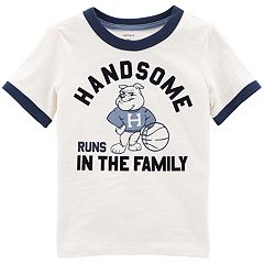 Toddler Boy Carter's 'Handsome Runs in the Family' Ringer Tee