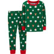 Toddler Carter's Christmas Santa Claus, Reindeer, Polar Bear and Penguin Top & Bottoms Pajama Set
