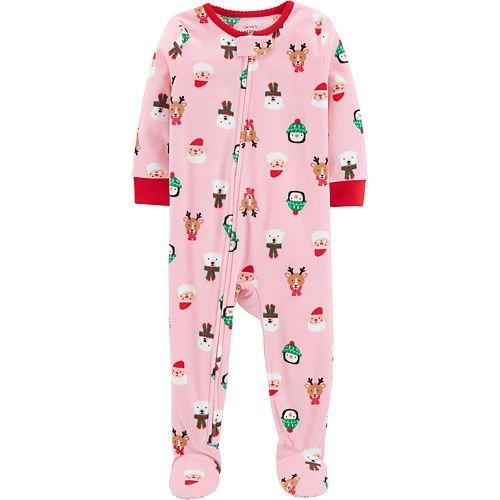 fbb1be8c1 Baby Girl Carter's Microfleece Santa, Penguin & Reindeer Christmas ...
